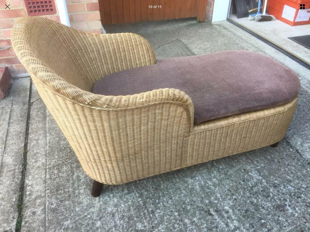 Cotswold Company Chaise Longue Wicker Cane Sofa Relaxing Lounge With on chaise furniture, chaise sofa sleeper, chaise recliner chair,