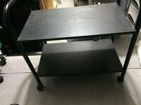 Black Wooden Tea Trolley