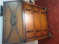 1930s solid oak bureau/writing desk