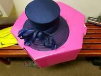 Gorgeous navy wedding hat