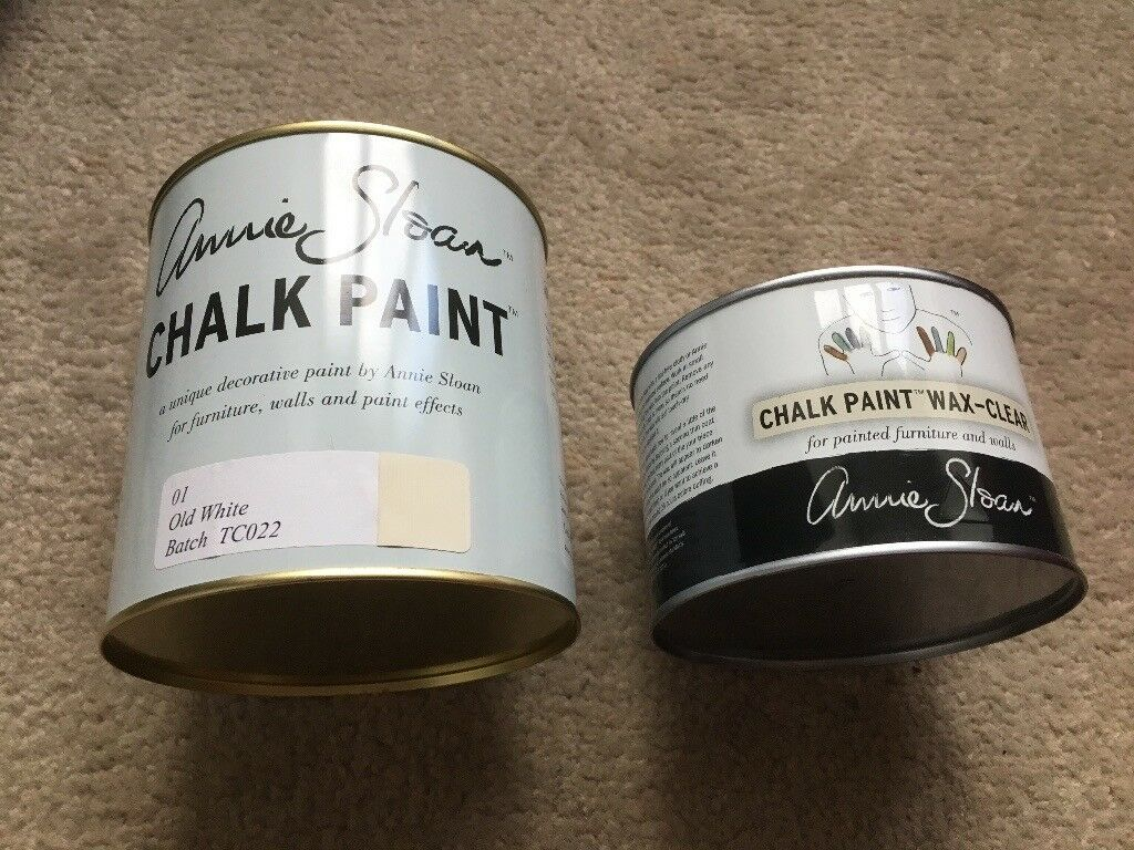 Annie Sloan paint and wax unopened. Old white and wax - clear 500ml