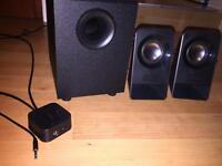Logitech Speakers with Sub and Aux cable
