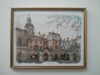 Framed Picture - Horse Guards Whitehall - 30x24cm