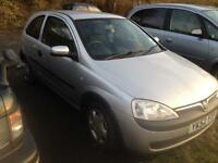 2002 Vauxhall corsa 1.0 with new mot