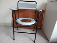 Portable Chair Commode Fold Up