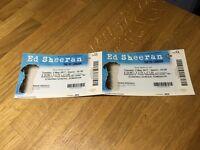 2 x Ed Sheeren Tickets O2 Tuesday 2nd May