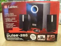 LABTEC pulse 285 3piece multimedia speaker system boxed never used