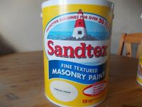 new Sandtex Smooth Masonry Paint 5 Litre Cornish Cream