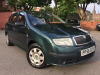 05 - PLATE SKODA FABIA CLASSIC 1.2 PETROL HATCHBACK 5 DOOR ROAD TAX £12/M