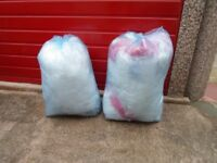 2 x large bags of clean used bubble wrap