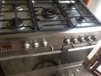 Silver Stainless Range gas cooker.......90cm Mint Free delivery