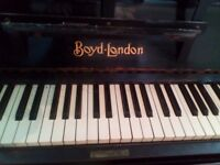 Large upright piano for sale, in good playing condition.