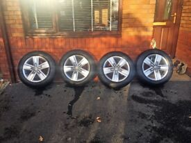 "NEW GENUINE VW 17"" Devonport alloy wheels a continetal tyres."