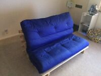 Blue double futon great condition