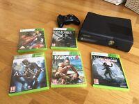 XBOX + 1 REMOTE + 5 VIDEOS GAMES
