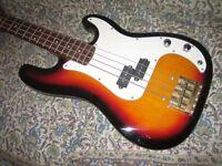vintage precision bass copy excellent ungigged condition