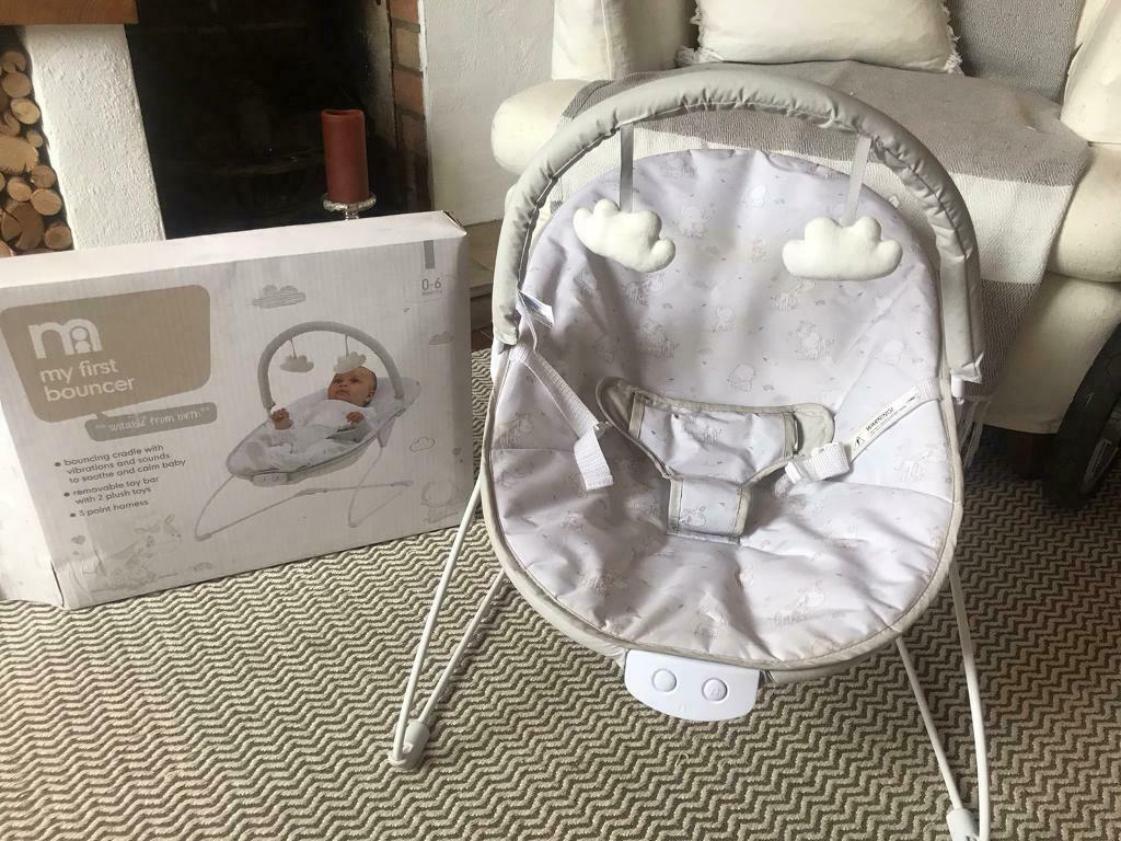 Mothercare baby bouncer with vibrate and music settings | in Farnham, Surrey | Gumtree