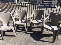 [FREE] 4 Plastic Garden Chairs