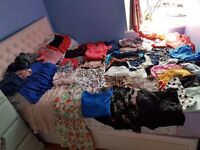 52 pieces of women clothes sizes 8-12, many different brands.