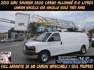 2013 GMC Savana 3500 CARGO ALLONGÉ NACELLE GSR ISOLÉ TRÈS RARE