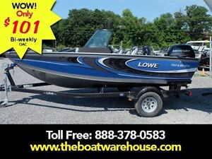 2016 lowe boats FS 1610 Merc 90HP Trailer Fish Finder Stereo