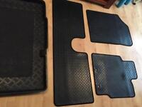 toyota yaris rubber mats and bootliner