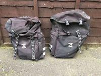 Raleigh Double Pannier Bike Bag. Bicycle Pannier Rack Luggage Bag.