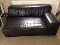 Brown Ikea sofa, good condition. Smoke pet free home. Collect Langland.