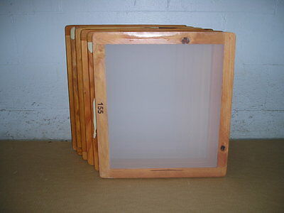 Screen Printing Frames--box Of 6--18 X 20 Wood With 155 White Mesh