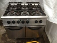 6 burner commercial range cooker