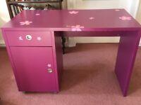 Funky purple desk!