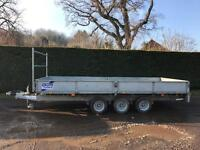 Ifor Williams tri axle 16ft trailer with ramps