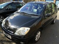 Renault scenic 1.6 petrol black long MOT!! Offers welcome!!!