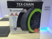 Tex-Chain Anti Skid Snow & Ice Wheel Covers for Cars