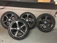 """Bmw 5x120 17"""" 17inch alloy wheels alloys e82"""