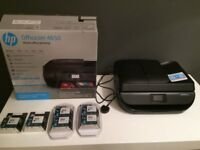 HP OfficeJet 4650 - ALL-IN-ONE Printer/Copier/Fax c/w many Ink Cartridges (still in packaging)
