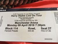 Harry Styles live on tour x4 tickets Manchester Arena Mon 9 April 7.30pm. £220 total.