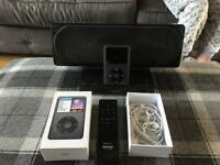 iPod classic 160gb in space grey + Sony dock