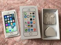 iPhone 5s 16GB, unlocked, silver, mint condition.