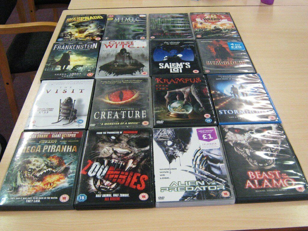 Horror DVD's for sale only 50p each