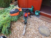 gardening equipment black/decker 2/speed vacum,also hedge trimmer gt250,all in good condition