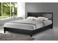 🔵💖🔴LOWEST BUDGET RANGE🔵💖🔴LEATHER SINGLE-DOUBLE+SMALL DOUBLE & KING SIZE BED FRAME w MATTRESSES