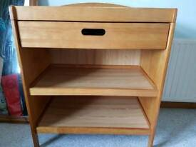 Baby changing table unit with 2 shelves and draw