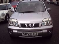 2004 53 NISSAN X-TRAIL 2.2 DCI T-SPEC ** DIESEL 4X4 ** 83000 MILES ** LEATHER INTERIOR **