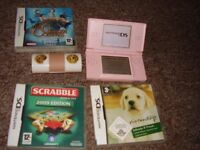 NINTENDO DS LITE WIT RARE NINTEDOG STYLUS CASE AND GAMES
