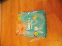 Pampers baby-dry nappies size 4+, Brand new sealed pack