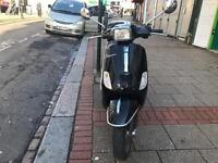 PIAGGIO VESPA S50 jet black 2009 very low mileage hpi clear!!