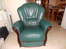 3.2.1.leather suite in first class condition.