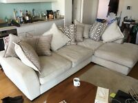 Super Comfortable L Shaped Corner Sofa in Excellent Condition with 9 Cushions