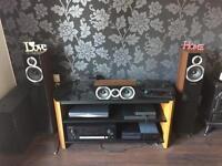 Wharfedale Diamond 10.3 speakers & 10.CC speaker